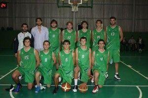 Plantilla del Club Náutico de Sevilla, con Rubén Jiménez (abajo, segundo por la derecha)