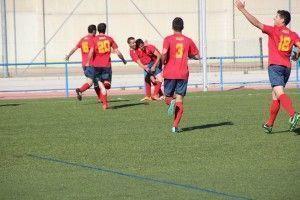 Los jugadores ubriqueños celebran uno de los goles ante la UD Bornense