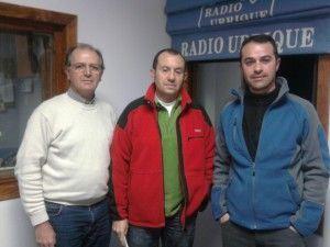 De izda a dcha, Pepe Naves, Paco Moreno y Jesús Fernández