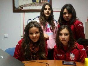 De izda a dcha y de arriba a abajo, Marina Labrador, Lorena Ruiz, Mayeba Rakdani y Ana Millán