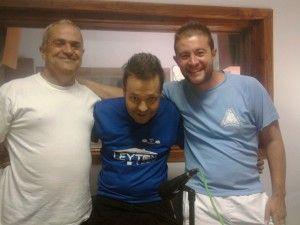 Miguel Butista, Manuel Jesús Mendoza y Daniel Villanueva