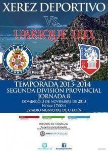Cartel del Xerez Deportivo FC - Ubrique UD