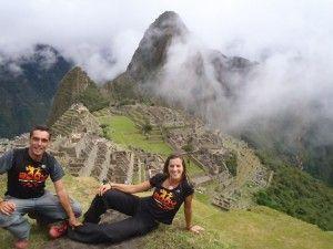 Dani García y lola Triviño en Machupicchu