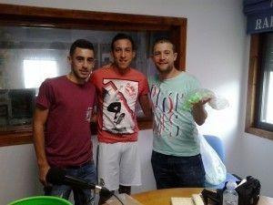 Bernardo Peña, Isaac Cañamaque y Daniel Villanueva